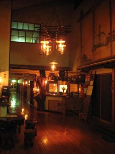 ランプの宿 青荷温泉 ロビー