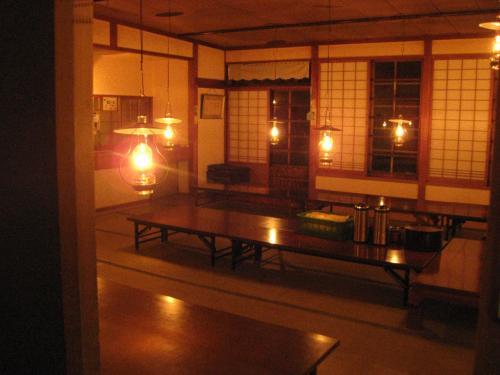食事会場 ランプの宿 青荷温泉