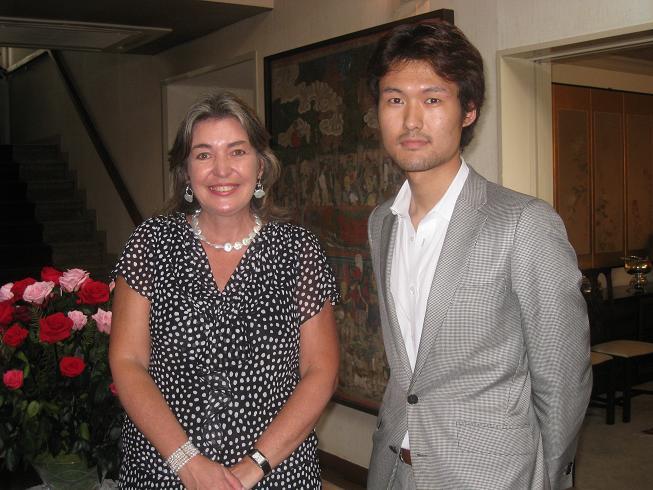 Ambassador Patricia Cardenas and Kazuki komatsu