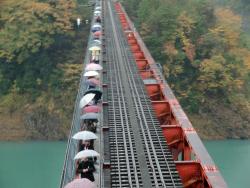 香嵐渓と大井川鉄道 081