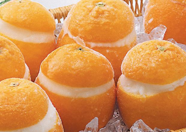 バレンシアオレンジシャーベット