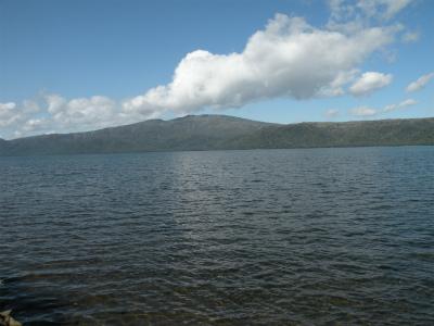 10月14日の屈斜路湖