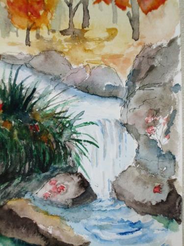 鶴見緑地 滝