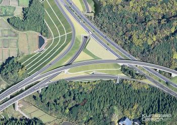 道路完成予想図 ジャンクション完成予想図 インターチェンジ完成予想図 土木完成予想図 写真合成 写真加工