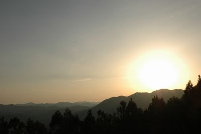 那須高原から見る夕陽
