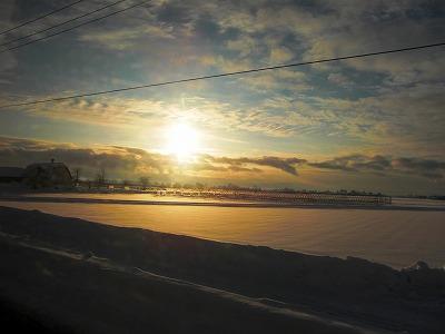 旭川の雪景色