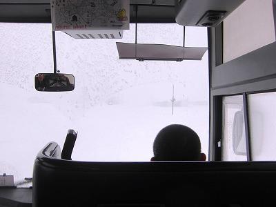大雪で視界不良