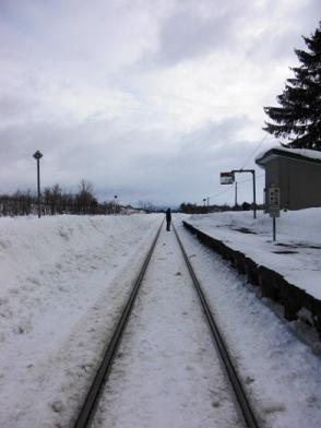 2009年正月の恵比島駅