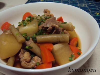 鶏と根菜の煮物 2
