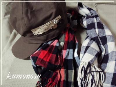 帽子とストール2