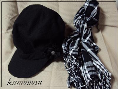 帽子とストール