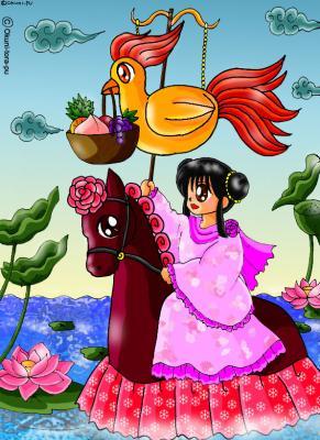 鶏とお馬ちゃん-中華風2