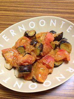 鮭とナスとトマトのちゃんちゃん焼き