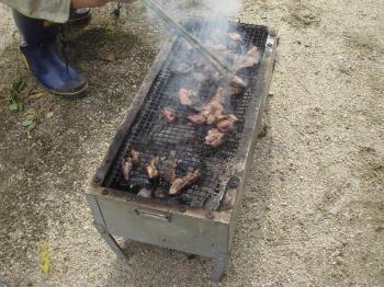 いのししの焼き肉