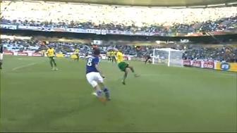 ワールドカップ2010 日本 vs カメルーン 本田圭佑ゴール 1 松井