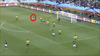 ワールドカップ2010 日本 vs カメルーン 本田圭佑ゴール 2 まわりこみ