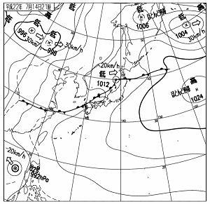 天気図 10071421