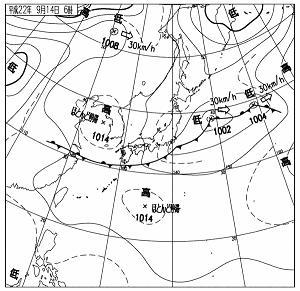 天気図 10091406