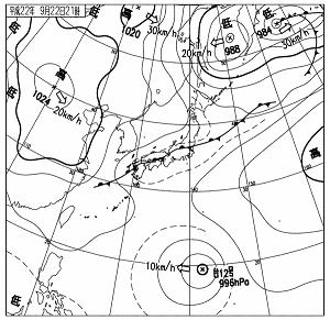 天気図 10092221