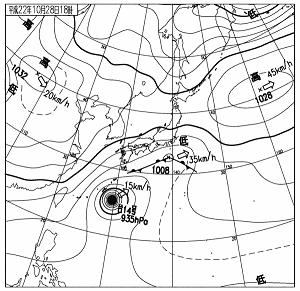 天気図 10102818