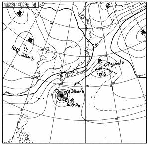 天気図 10102906