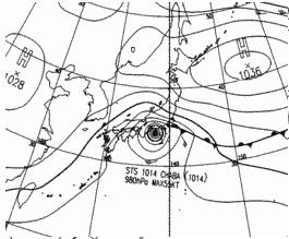 天気図予想 2010年10月30日21時
