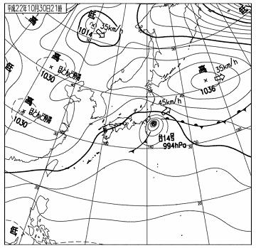 天気図 10103021