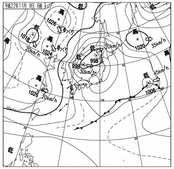 天気図 10110906