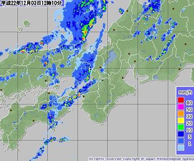 雨雲 2010年12月3日12時10分