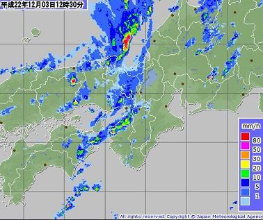雨雲 2010年12月3日12時35分