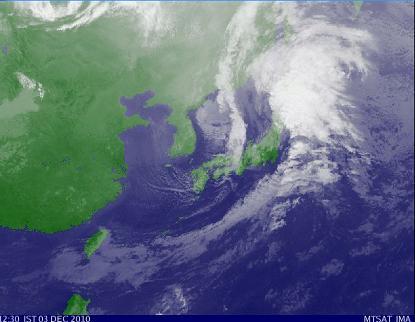 気象衛星 2010年12月3日12時30分