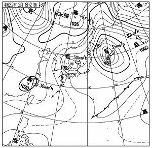 天気図 10120821