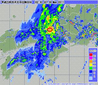 気象レーダー 201105300230-00