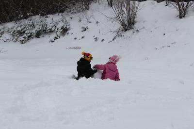 adatara 雪遊び