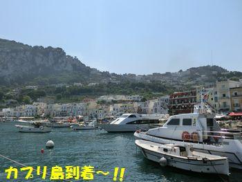 カプリ島の港。
