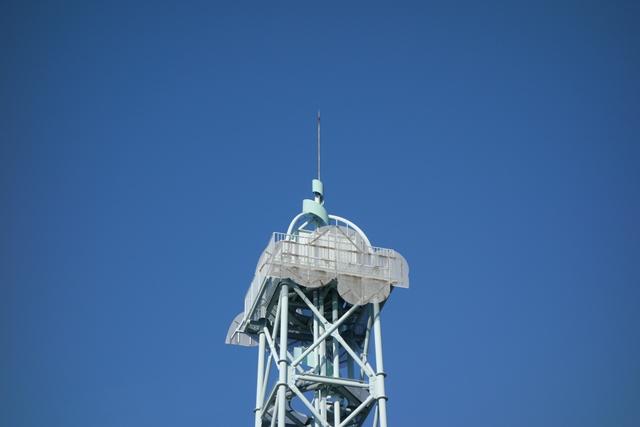 奈良市営二名住宅給水塔の頂部