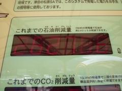 津田の松原SA ソーラー石油削減