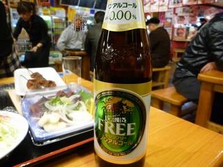 ひろめ市場での昼食ノンアルコール