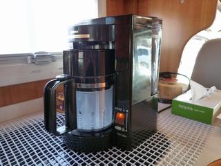 コーヒーメーカー スイッチON