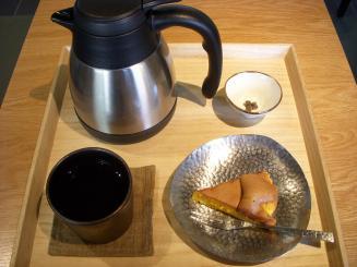 然花抄院(「然の膳」然かすてら・京番茶¥945)