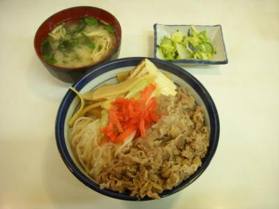 きさらぎ亭(すき焼き丼¥740)