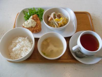 GO SLOW ゆっくりとカフェ(DELI lunch(カジキのチーズフライ・鮭のエスカベッシュ)¥800)