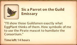 Sic a Parrot on the Guild Emissary