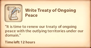 Write Treaty of Ongoing Peace