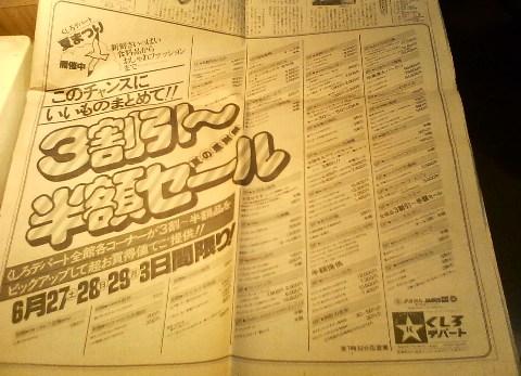 釧路デパートの広告