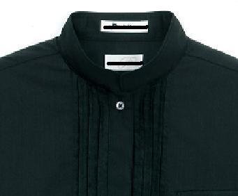 ②台付シャツカラースタンドカラーに衿が挟み込まれる形状になっているので、より首廻りにフィットできるのが特徴です。ジャケットのインナーにネクタイと合わせて着用  ...
