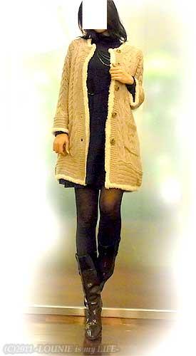 LOUNIE(ルーニィ)通販:Stola.(ストラ)通販:Stola.(ストラ)2010年秋冬物:LOUNIEキャミワンピ×Stola.ボアニットで防寒バッチリ!物件の最終ジャッジに行ってきました!