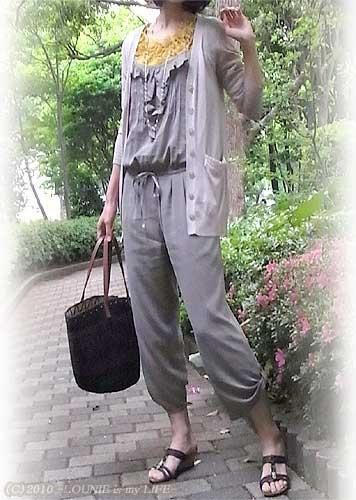 LOUNIE(ルーニィ)通販:LOUNIE(ルーニィ)2010春夏物・Stola.(ストラ)春夏物:コーディネート日記◇BAILA・LEE掲載の大人気Stola.コンビネゾンでゆるかわコーデ☆+LOUNIE3色パネルスカートでキレイ系OLコーデ♪