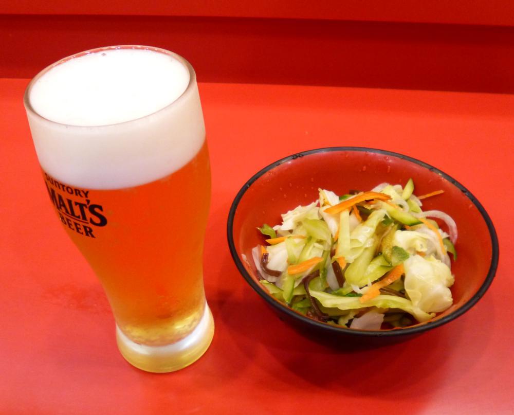 ビールと野菜