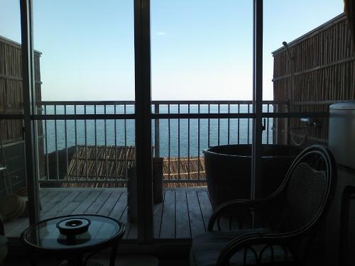海がみえる客室露天風呂